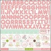 "Echo Park Bundle of Joy Girl Collection Sticker 12""x 12"" Alphabet Girl"