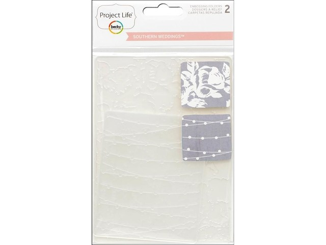American Crafts Project Life® Weddings Embossing Folders