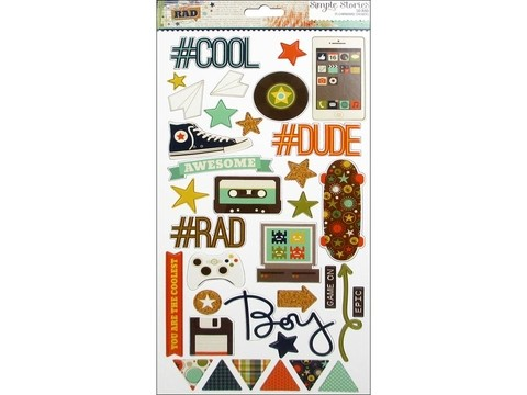 Simple Stories Collection So Rad Sticker Chipboard