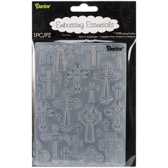"Darice Embossing Folder 4.25""X5.75"" Crosses / Cruces en internet"