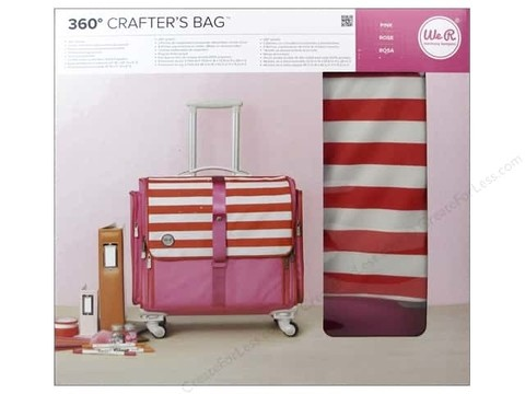 We R Crafter Bag Pink 360° / We R Valija para Manualidades Rosa 360° - tienda online