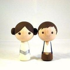 Wood Turning Shapes Pin Doll x 6 pcs / Madera Torneada para Muñecos x 6 unidades en internet