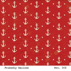 LAURA BAGNOLA  - FRIENDLY SAILORS - PACK DE 12 PAPELES 30X30 CM - tienda online