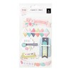 STICKERS - PE - FANCY FREE - LAYERED STICKERS (6 PIECE) / ADORNOS DE CARTULINA 3D CON DETALLES DE COSTURA X 6 PIEZAS