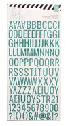 STICKERS - HS - GLITTER - ALPHABET - TEAL / PUFFY STICKERS CON GLITTER COLOR TURQUESA X 118 PIEZAS - comprar online