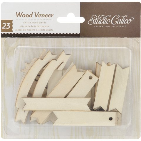 Classic Calico 3 Laser-Cut Wood Veneer Shapes Banners 23/Pkg