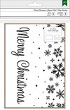 AMERICAN CRAFTS CARDS & ENVELOPES - AC - KRAFT & SNOWFLAKES