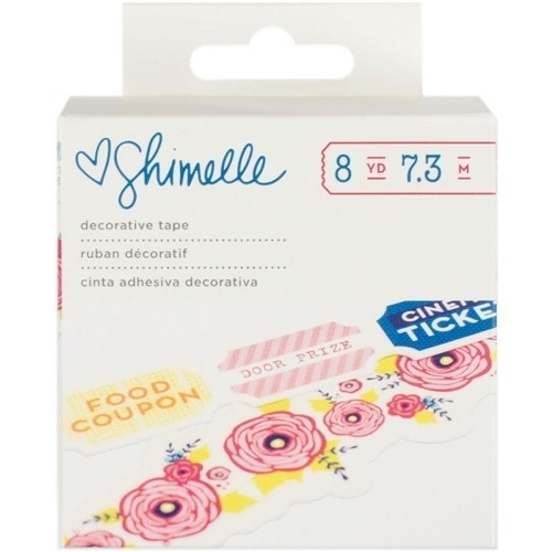 American Crafts Shimelle DECORATIVE TAPE Starshine / CIntas decorativas x dos motivos
