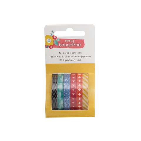 Amy Tangerine Oh Happy Life Collection - Mini Washi Tape / CInta Washi tape x 6 unidades x 5mm cada rollo en internet
