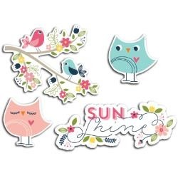 Welcome Spring Cardstock Die-Cuts 12/Pkg Sunshine (D)