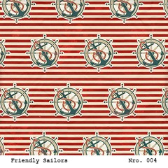 Imagen de LAURA BAGNOLA  - FRIENDLY SAILORS - PACK DE 12 PAPELES 30X30 CM
