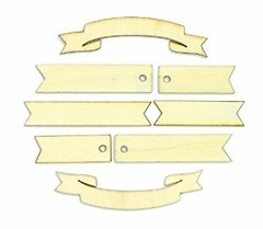 Classic Calico 3 Laser-Cut Wood Veneer Shapes Banners 23/Pkg en internet