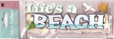 Jolees Boutique Dimensional Stickers - Life Is a Beach