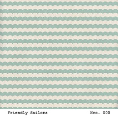 LAURA BAGNOLA  - FRIENDLY SAILORS - PACK DE 12 PAPELES 30X30 CM