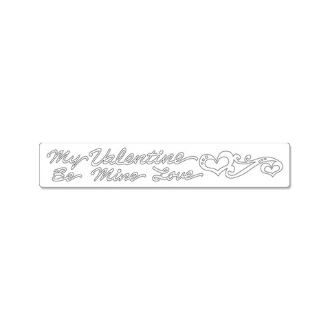 Sizzix Sizzlits Decorative Strip Die - Valentine Phrases with Hearts by Scrappy Cat - comprar online