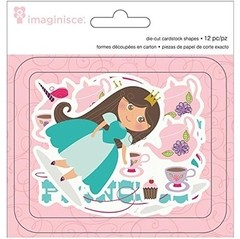 Little Princess Cardstock Die-Cuts 12/Pkg Brown Hair Princess, 4 Shapes/3 Each (D) - comprar online