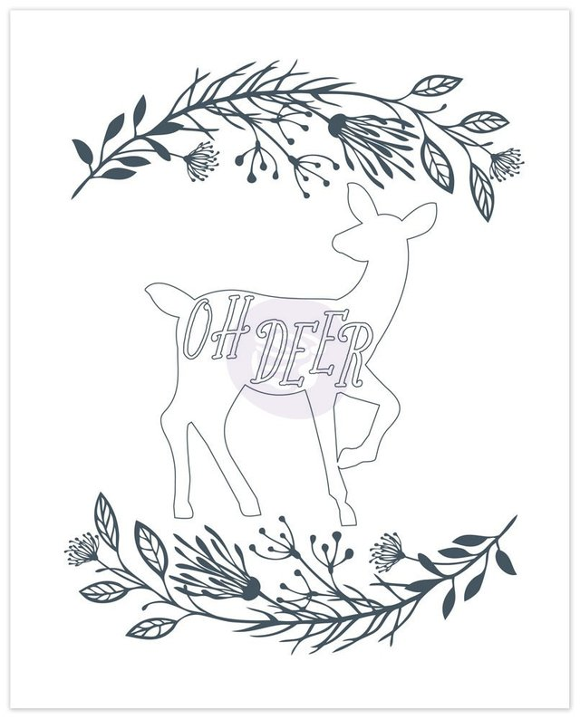 Prima Marketing Coloring Book Vol. 2 Watercolor Decor, 24 Sheets / Prima Marketing Libro para Colorear Vol. 2 de 24 hojas - TheCraftyShop