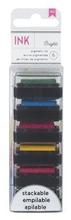 AMERICAN CRAFT BRIGHTS MINI STAMP PAD - 6 PADS / KIT DE 6 MINI PADS DE TINTAS PIGMENTADAS COLORES BRIGHTS - comprar online