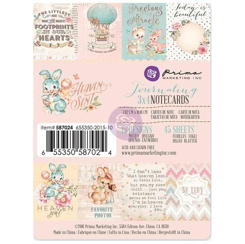 Prima Marketing collection Heaven Sent Journaling Cards 3