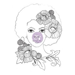 "Prima Marketing Bloom Cling Rubber Stamps 4""X6"" JOY en internet"