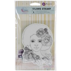 "Prima Marketing Bloom Cling Rubber Stamps 4""X6"" JOY"