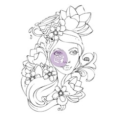 "Prima Marketing Bloom Cling Rubber Stamps 4""X6"" PAIGE - comprar online"