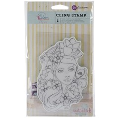 "Prima Marketing Bloom Cling Rubber Stamps 4""X6"" PAIGE"