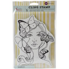 "Prima marketing Bloom Cling Rubber Stamps 8""X6"" SHARON"