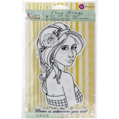 "Prima Marketing Bloom Cling Rubber Stamps 8""X6"" GINGER"