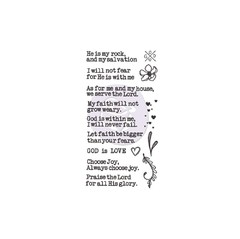 "Prima Marketing Jamie Dougherty Creating In Faith Cling Stamps 3""X5.5"" PHRASES - comprar online"