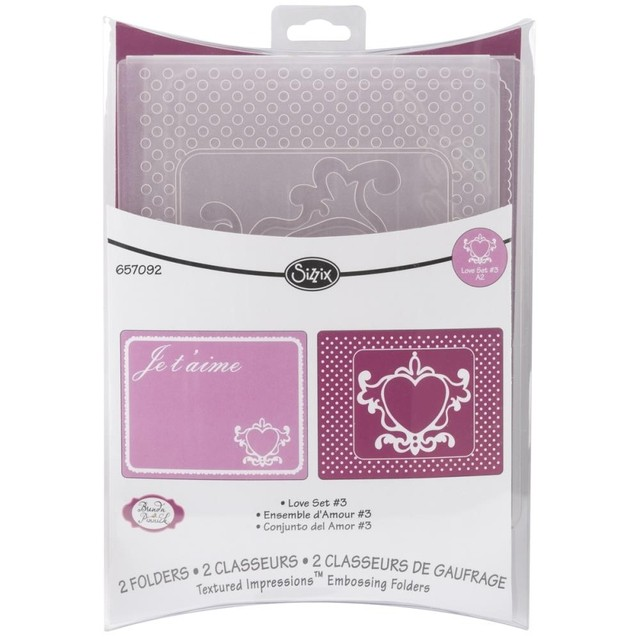 Sizzix Textured Impressions A2 Embossing Folders 2/Pkg Sizzix Textured Impressions A2 Embossing Folders 2/Pkg