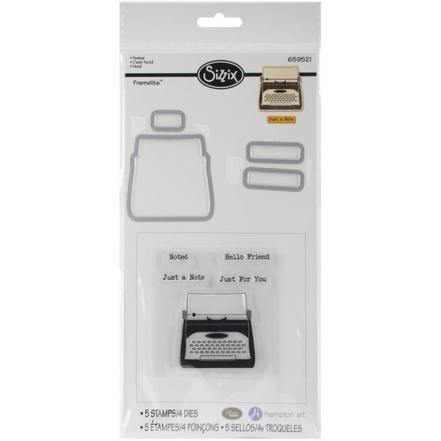 Sizzix Framelits Dies Stamps By Hampton Art Noted / Cortantes y Sellos Sizzix