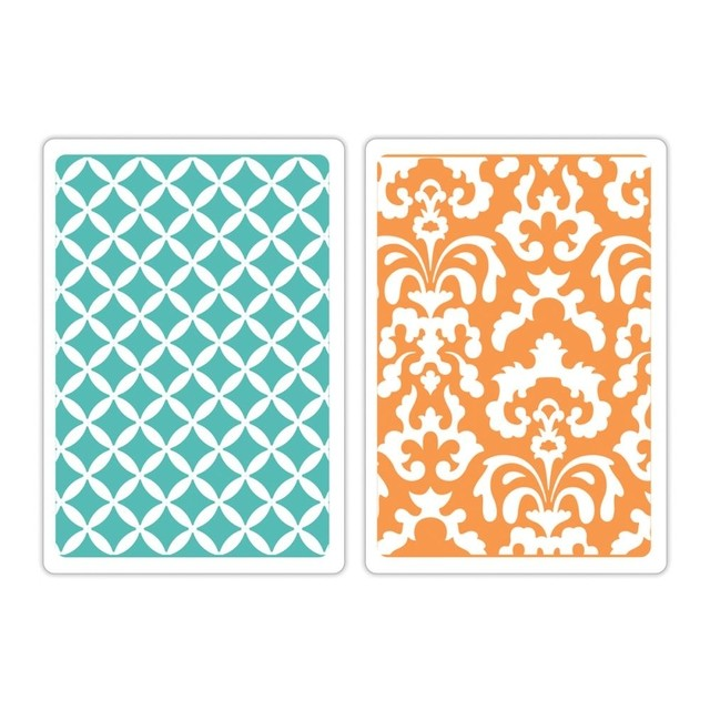 Sizzix Textured Impressions A6 Embossing Folders 2/Pkg Chateau Damask & Veranda - comprar online