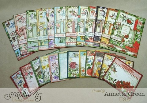 Graphic 45 Collection 8x8 Time to Flourish Calendar - tienda online