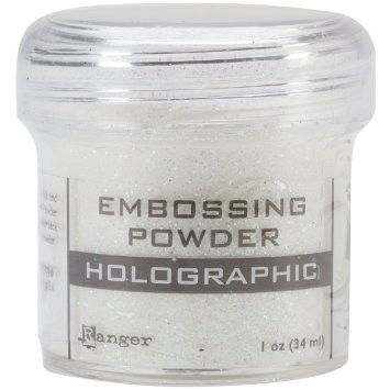 Ranger Embossing Powder Super Fine Holographic .60 oz / Polvo de relieve en caliente Ranger x 17gr Holográfico