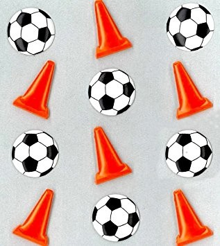 Jolee's Cabochons Soccer Balls and Cones