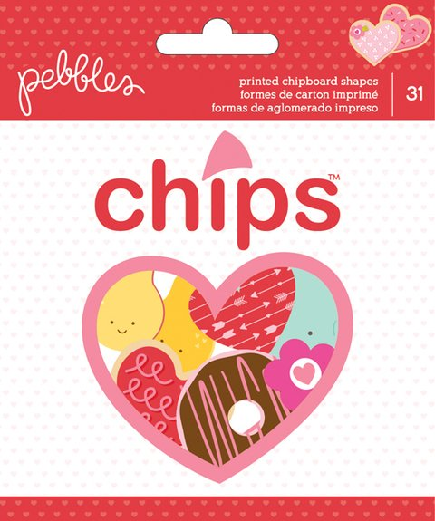 Be Mine Chips Ephemera Die-Cuts 31/Pkg Ephemera