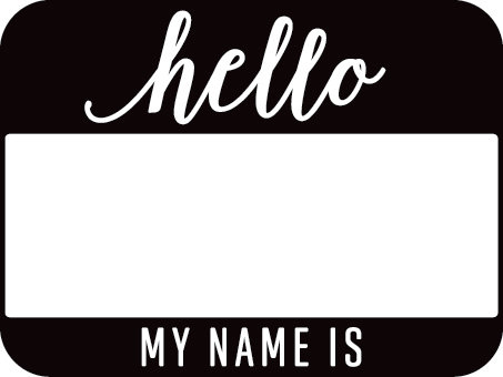 Jen Hadfield Everyday Self-Inking Stamp Hello, My Name Is en internet