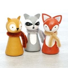 Wood Turning Shapes Pin Doll x 6 pcs / Madera Torneada para Muñecos x 6 unidades - comprar online