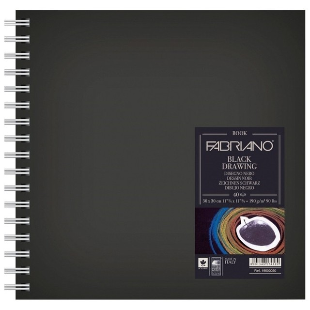 Fabriano Black Drawing Book 12X12