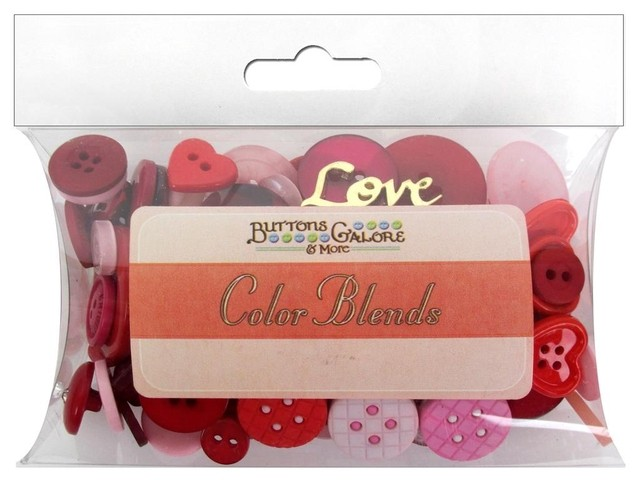 Buttons Galore Button Color Blends 3oz Valentine