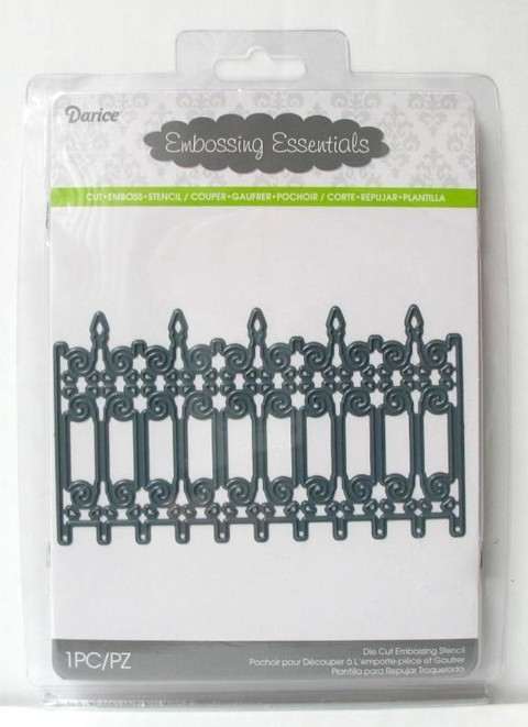 Darice Embossing Essentials & Die Iron Fence Border / Cortante Borde de reja de hierro forjado