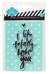 "HEIDI SWAPP LOVE YOU STAMP & STENCIL SET / SET DE STENCIL Y SELLO HEIDI SWAPP ""LOVE YOU"" - comprar online"