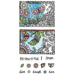"Coloring Clear Stamps By Hampton Art. ""Butterfly"" en internet"