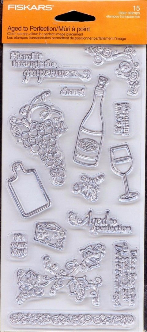 Fiskar Clear Stamps 4 X8 Aged To Perfection - comprar online