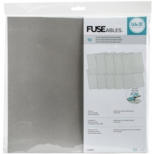We R FUSEables Fuse Clear Sheets  / Folios x10 Unidades Para Photofuse en internet