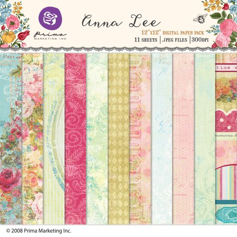 PRIMA MARKETING ANNA LEE - PACK DE 11 PAPELES 30x30 CM