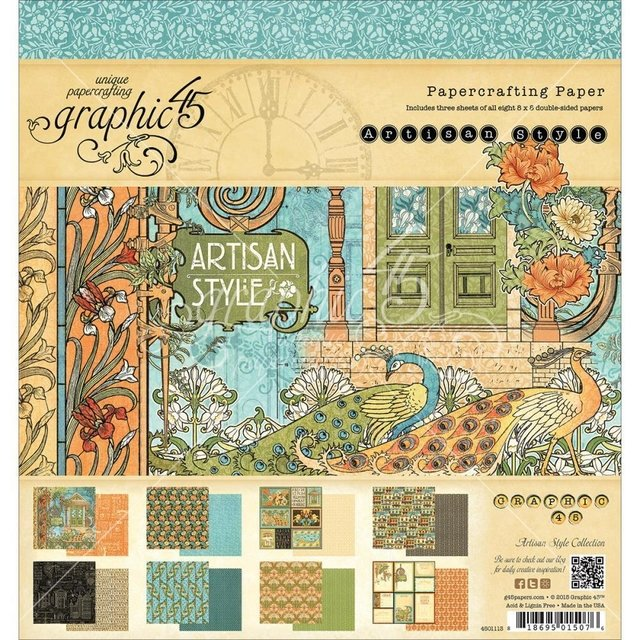 Graphic 45 Collection 8x8 Artisan Style - comprar online