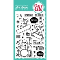 "Avery Elle Clear Stamp Set / Sellos Avery Elle ""Stoked"""
