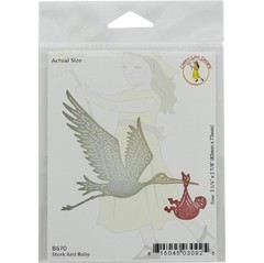 Cheery Lynn Designs die stork and baby 3.25 x 2.875 en internet